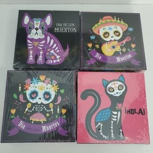 Day of The Dead Shadow Boxes Set of 4